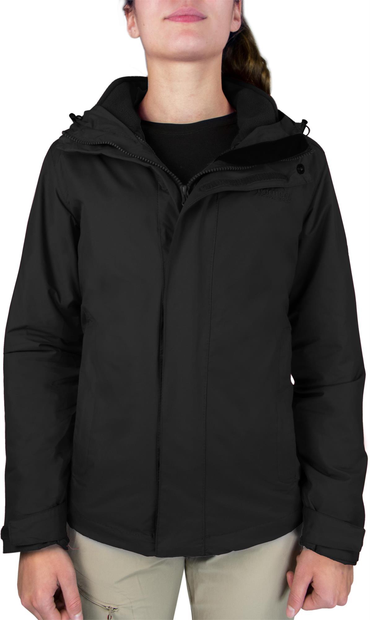 Damen-Jacke Hardshelljacke Übergangs-Regenjacke mit Kapuze Wassersäule 10.000mm