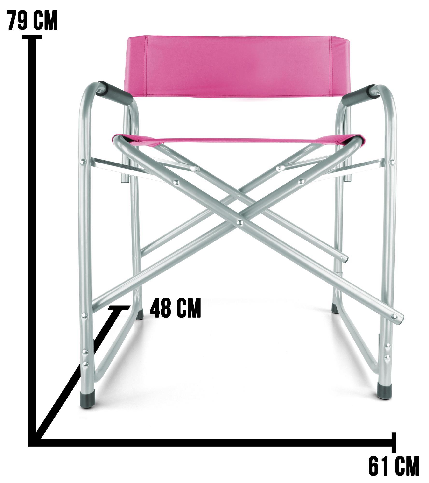 Campingstuhl Regiestul Faltstuhl mit Armlehnen faltbar bis 150 Kg Deck Chair