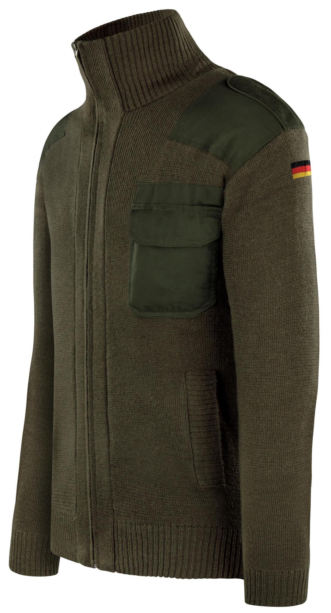 Armée Tricot Veste Veste D/'hiver avec drapeau allemand Altesse insigne après TL